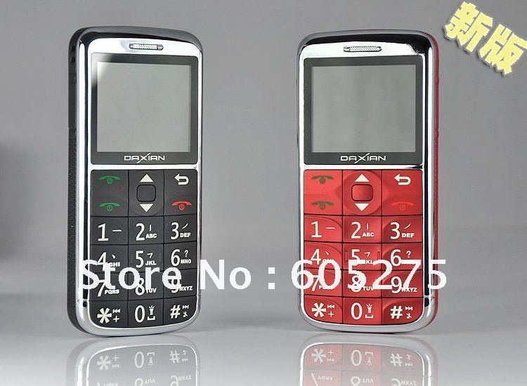 Freeshiping DaXian GS2000 Dual sim GSM mobile phone for old people, for senior use one touch mp3, radio,LED lighter cell phone(China (Mainland))
