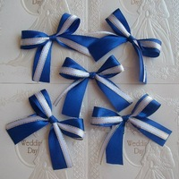 Free shipping 7cm 20pcs silk ribbon bow for Wedding car decoration
