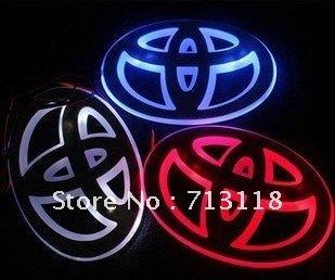 Car Logo LED Light For Toyota , Car Emblem Light , Rear Lights, Free shipping