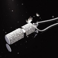 Jewelry Crystal Necklace USB Flash Drive 1GB 2GB 4GB 8GB 16GB 32GB 64GB Wholesale
