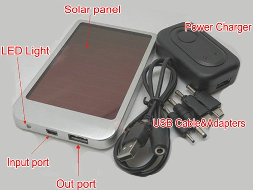 2600MAh Solar Mobile Power Bank USB Solar Panel Charger Battery for Phone MID MP3 MP4 PDA Free shipping(China (Mainland))