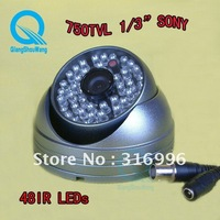Hot 750TVL Sony CCD Color Dome Video Waterproof Outdoor CCTV Surveillance Security Camera System AS13-7G $15 off per $150 order