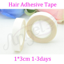1 roll of double-sided tape 1cm*3m for remy tape hair and PU skin weft hair extension attaching(China (Mainland))