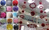 30cm prasinous wedding silk kissing ball plastic inner pomander kissing ball