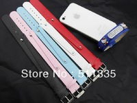 wholesale 50pcs 18+8mm wide / 21cm length PU Leather wristband fit 8mm slide charms brand new