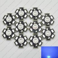 Freeshipping! 100PCS 3W Royal Blue High Power LED Emitter 700mA 450-455NM with 20mm Star Base for Plant Grow/Aquarium