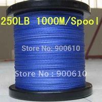 Super Strong 100% UHMWPE 8-Braid Fishing Line 250LB 0.92MM 1000M/Reel