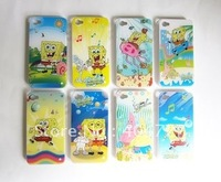 Brand New Sponge Bob Cartoon Series Mobile Case For iPhone 4/4S Whole Sale 5pcs/Lot Free Shipping