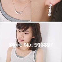 100PCS Summer Refreshing Cute Sweet Rhinestone Simple Pendant Necklace Sweater Chain New Top