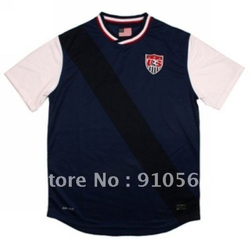 Free shipping,wholesale soccer jersey, USA Away 2012/2013 season jersey