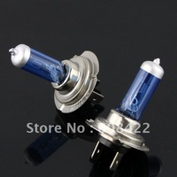 Free shipping 2pcs H7 Low Beam New Super White Light Bulbs 6000K Halogen Xenon 12V 55W
