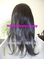 14inch silky straight full lace wigs,indian remy human hair #1in stock