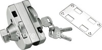 202 stainless steel glass door lock HJ-666B - best selling suitable for single glass door Semicircle locks