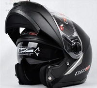 Free shipping  flip up helmet  LS2 386 with double visor full face helmets for motorcycles
