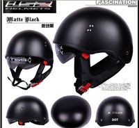 Free shipping glass fiber LS2 DOT motorcycle helmet black safety helmet half face helmet for electric motor