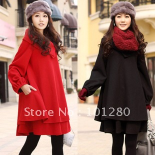 Hot-selling 2014 spring and autumn new arrival cloak outerwear plus size wool coat outerwear mm red bridal wear C010