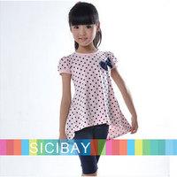 2014 Free Shipping New Children Summer Clothing Baby Girls Short Sleeve Sets,Tops + Leggings  K0527