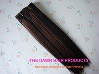 "Mixed (50% Human Hair&50% Kanekalon Futura Heat Resistant Fiber) Straight Yaki Weft Hair Weave Weaving Color PFR1B/33 8""-22"""