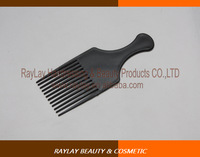 Professional black plastic hair salon jumbo styling pik comb