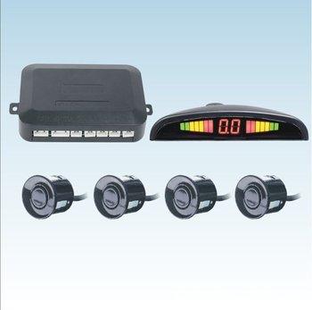 Fast shipping 4 Sensors System 12v LED Display Indicator Parking Car Reverse Radar Kit black/white/silver chioce free shipping!