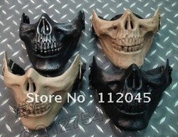 Free Shipping! US ARMY M03 skeleton warriors 2 full face masks and protective mask / 6 color terror mask(China (Mainland))