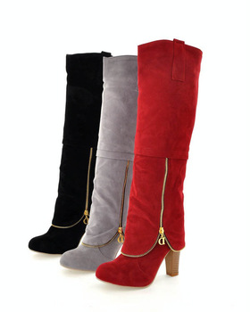 large size 34-43 Hot 2013 fashion female platform knight high heel over snow boots for women and women's ladies shoes #Y11003F