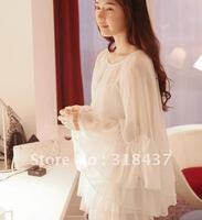 FREE SHIPPING 2013 women's fashion chiffon elegance  angel dress wit flare sleeves,WF1226