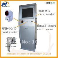 kiosk touch screen barcode scanner/card reader kiosk