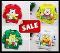 Christmas promotion Children&#39; T-shirt 4pcs/lot size 80-110 lovely pooch bear carton design extra thick cotton free shipping