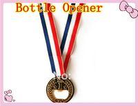 free shippment 2012 London Olympic Specially Design NO.1 Gold Medal Bottle Opener Ring Beer Bottle Opener