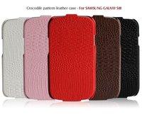 MOQ 1pc Original BOROFONE Brand Galaxy S3 case Crocodile Pattern Natural Skin Luxury Genuine Leather Cover For Samsung i9300