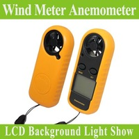 Free shipping Digital Pocket Anemometer Wind Speed Meter Thermometer