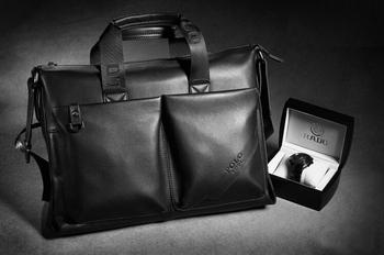 Free shipping man geniune leather bag.fashion business handbag.best briefcase.computer bag