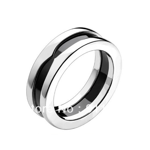 Charitable Ring-SAVE THE CHILDREN!1-Band Ring In White Gold With Black Ceramic,Timeless Benevolent Ring For Every Kindly Persons(China (Mainland))
