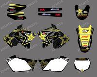 0002New Style 3M ROCKSTAR TEAM DECALS STICKERS  Graphics Kits for SUZUKI RM125 RM250 2001-2012
