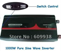 1000w dc12v to ac 100v, pure sine wave, car inverter with JP plug free shipping,50hz and 60hz switch