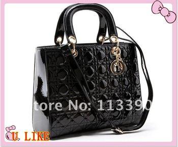 012 Hot Sale Fashion Women Bag Lady PU handbag PU Leather Shoulder Bag Free shipping