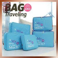 Free Shipping New Arrival  Fashion Nylon Organizer Bag Travel Bag Organizer for Sale (5pcs/set)
