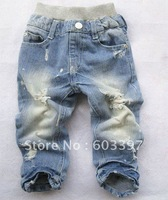 Boys' Jeans baby Holes Jeans baby pants Boy's Jeans Cowboy pants trousers wholesale and retail B01