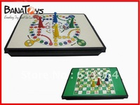 free shipping ! snakes and ladders game chess/ 2 chess pieces CHESS GAME 2in 1 game toys909990820
