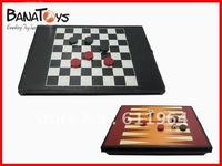 free shipping!checkers/ draughts CHESS GAME 2in 1 game toys909990824