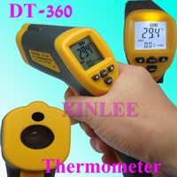 DT-360 Whole Set Non-Contact Digital Infrared Thermometer Temperature with Laser -42~360 degree , freeshipping,wholesale