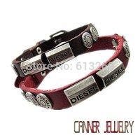sl336/leather bracelet,high quality  punk  cowhide  bracelet,Rock styel,100% Pure handmade jewelry,100% genuine leather