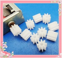 30 pcs A pack Plastic gears 1.5mm hole modulus 0.5 of teeth 8T for motor shaft or axle, drive shaft toy parts