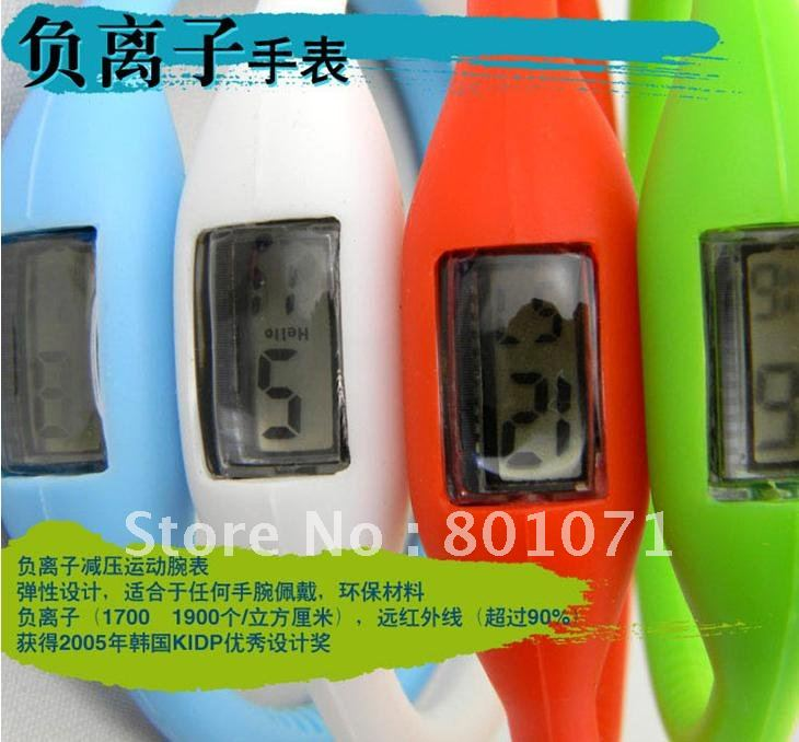 Novelty Promotional gifts Korean silicone anion decompression sports watch magnetic health table wholesale 10pcs/lot free ship(China (Mainland))