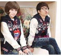 5,614 Korean ladies ' 2012 autumn Korea couple men's long sleeve coat lovers sweatshirts baseball coat Hoodies