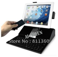HiFi Speakers Dock Station Stand+Bluetooth Keyboard For IPad 1/2/3 IPhone 4/4S/free shipping