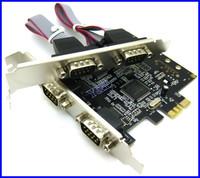 4 Port RS232 RS-232 Serial Port COM to PCI-E PCI Express Card Adapter Converter MOSCHIP MCS9904