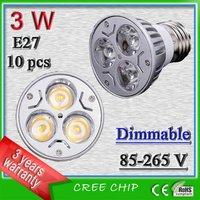 Free shipping 3 watt E27 dimmable led spotlights _ city brightens led sportlight