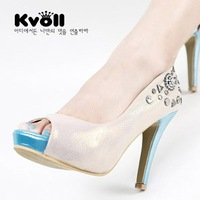 Free shipping New arrival Kvoll high quality fashion Platform Pumps Sexy High Heels shoes Lady Shoes Dilys store X704
